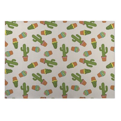 Najee Cactus Indoor/Outdoor Doormat Rug Size: 2 x 3