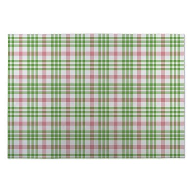 Gregory Candy Cane Plaid Indoor/Outdoor Doormat Rug Size: Square 8