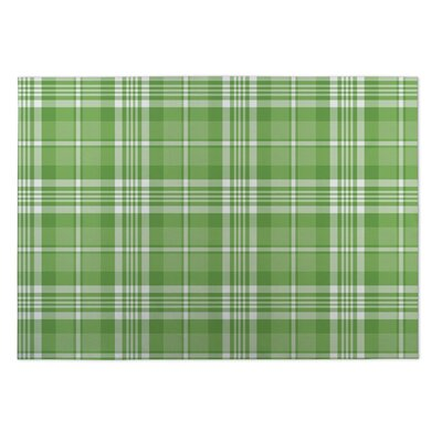Gould Candy Cane Plaid Indoor/Outdoor Doormat Rug Size: Square 8