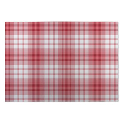 Giles Candy Cane Plaid Indoor/Outdoor Doormat Mat Size: Square 8