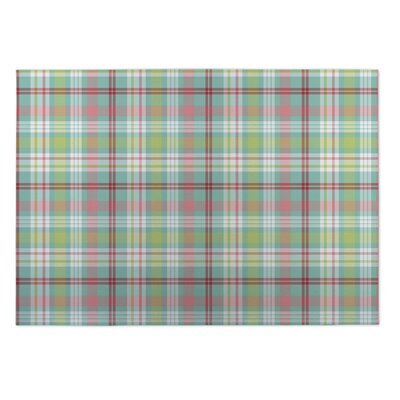 Gustin Christmas Ornaments Plaid Indoor/Outdoor Doormat Rug Size: 5 x 7