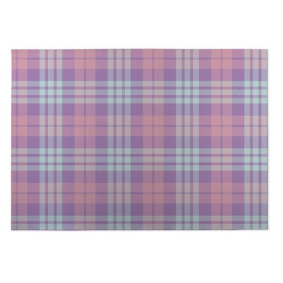Greenmont Coffee Donut Plaid Indoor/Outdoor Doormat Rug Size: Square 8
