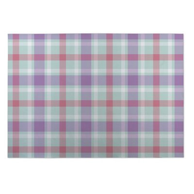 Gwendoline Coffee Donut Plaid Indoor/Outdoor Doormat Rug Size: Square 8