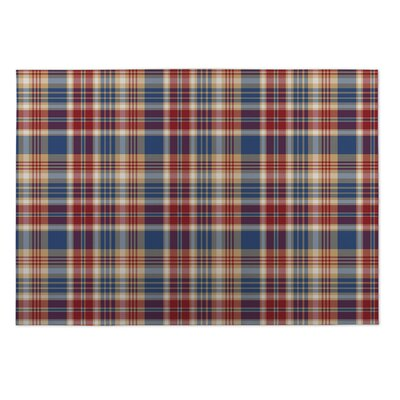 Buckley Fall Plaid Indoor/Outdoor Doormat Rug Size: Square 8