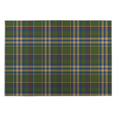 Vaughan Fall Plaid Indoor/Outdoor Doormat Rug Size: 5 x 7