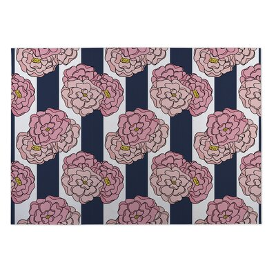 Boyer Floral Indoor/Outdoor Doormat Rug Size: 4 x 5