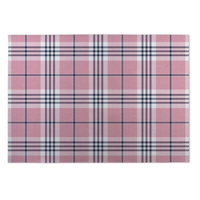 Yuonne Plaid Doormat Mat Size: Square 8