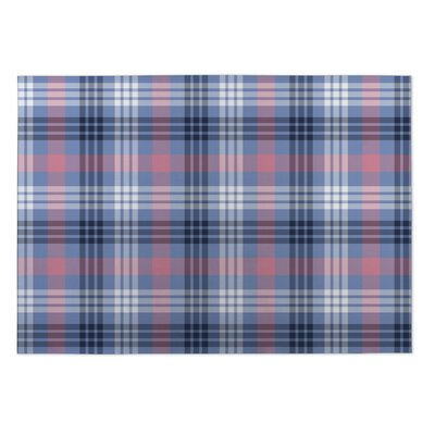 Keren Plaid Indoor/Outdoor Doormat Mat Size: Square 8