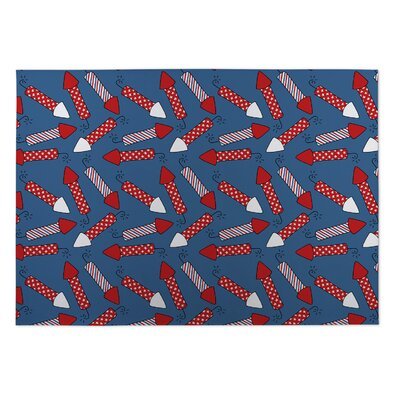Season Fireworks Indoor/Outdoor Doormat Rug Size: 5 x 7