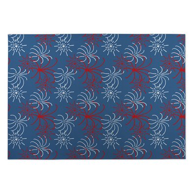 Carolann Fireworks Indoor/Outdoor Doormat Mat Size: Square 8'