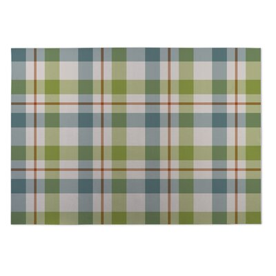 Hackney Fishing Plaid Indoor/Outdoor Doormat Rug Size: 5 x 7
