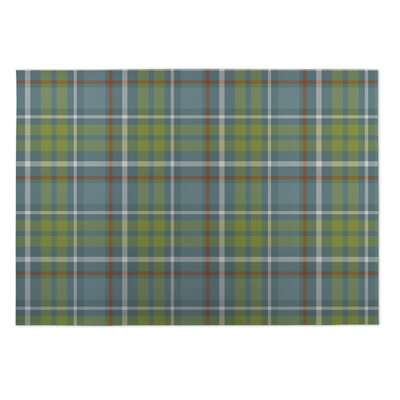 Ghia Fishing Plaid Indoor/Outdoor Doormat Rug Size: Square 8