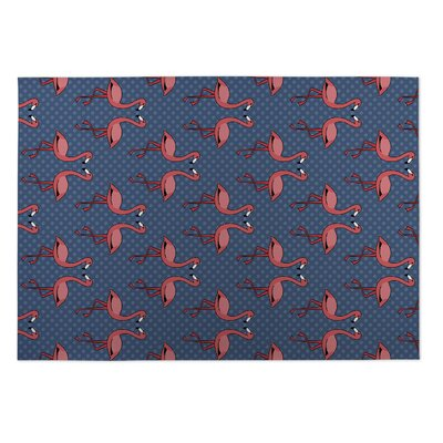 Ginnie Flamingos Indoor/Outdoor Doormat Rug Size: Square 8