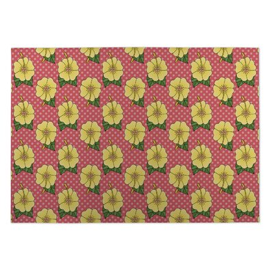 Lance Hibiscus Doormat Mat Size: Rectangle 2 x 3