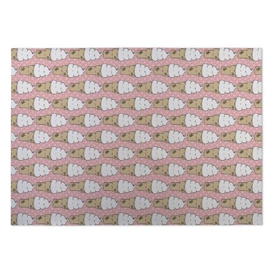 Johan Ice Cream Indoor/Outdoor Doormat Rug Size: 5 x 7