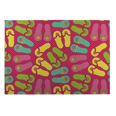 Shan Sandals Indoor/Outdoor Doormat Rug Size: 8 x 10