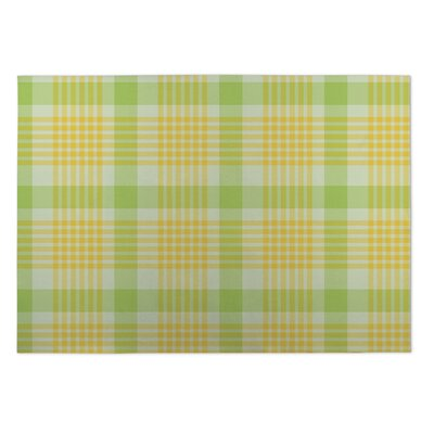 Guilford Floral Plaid Indoor/Outdoor Doormat Rug Size: 5 x 7