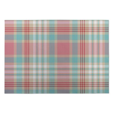 Greylock Latte Plaid Indoor/Outdoor Doormat Rug Size: 4 x 5