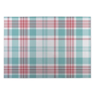 Hadley Latte Plaid Indoor/Outdoor Doormat Rug Size: 4 x 5