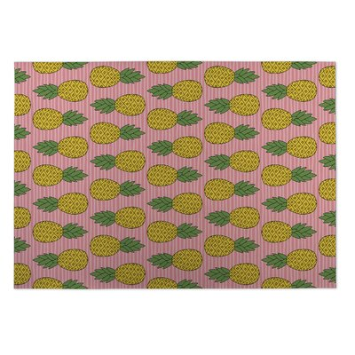 Hollie Pineapple Indoor/Outdoor Doormat Rug Size: 4 x 5
