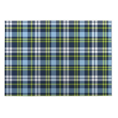 Harmon Plaid Indoor/Outdoor Doormat Mat Size: 5 x 7