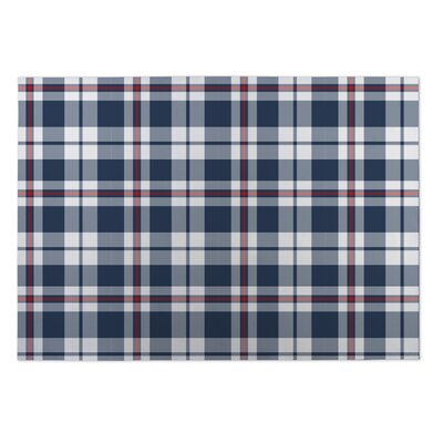 Goodwin Plaid Indoor/Outdoor Doormat Rug Size: 5 x 7