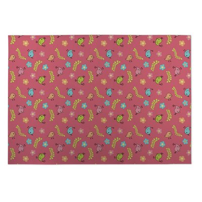 Grisel Spring Doodles Indoor/Outdoor Doormat Rug Size: Square 8