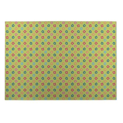 Greenmeadow Spring Doodles Indoor/Outdoor Doormat Rug Size: 2 x 3