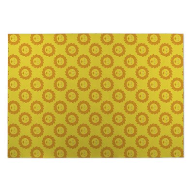 Bernarda Sunshine Indoor/Outdoor Doormat Rug Size: 4 x 5