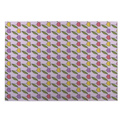 Eddy Tulips Indoor/Outdoor Doormat Rug Size: 5 x 7