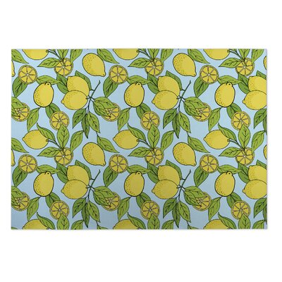 Gianna Lemons Indoor/Outdoor Doormat Mat Size: 2 x 3