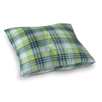 Truxton Plaid Indoor/Outdoor Floor Pillow Size: 23 H x 23 W x 8 D