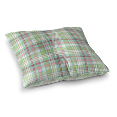 Mollien Ornaments Plaid Indoor/Outdoor Floor Pillow Size: 23 H x 23 W x 8 D