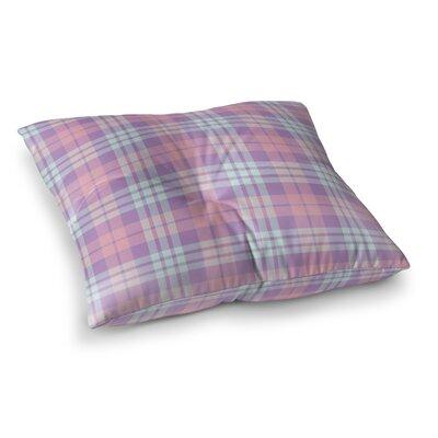 Abingdon Plaid Indoor/Outdoor Floor Pillow Size: 26 H x 26 W x 8 D