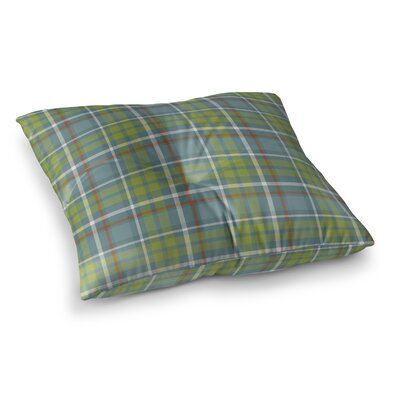 Warner Plaid Indoor/Outdoor Floor Pillow Size: 23 H x 23 W x 8 D