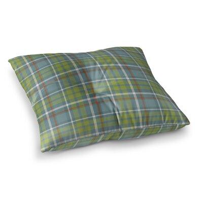 Warner Plaid Indoor/Outdoor Floor Pillow Size: 23 H x 23 W x 8 D