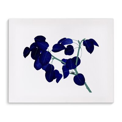 'Blue Leaves' Painting Print on Canvas Size: 16