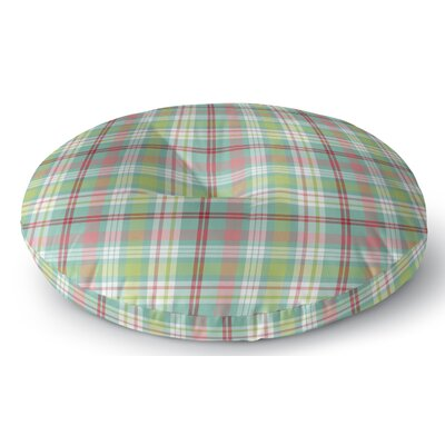 Baillie Plaid Indoor/Outdoor Floor Pillow Size: 26 H x 26 W x 8 D