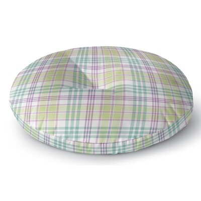 Turene Plaid Indoor/Outdoor Floor Pillow Size: 23 H x 23 W x 8 D