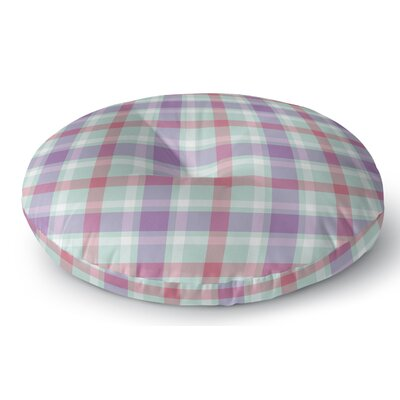 Malvina Plaid Indoor/Outdoor Floor Pillow Size: 23 H x 23 W x 8 D