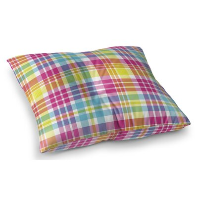 Harloe Plaid Indoor/Outdoor Floor Pillow Size: 23