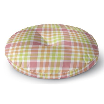 Mollien Plaid Indoor/Outdoor Floor Pillow Size: 23 H x 23 W x 8 D