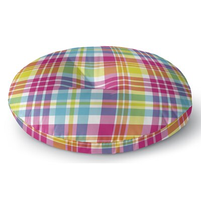 Harloe Plaid Indoor/Outdoor Floor Pillow Size: 23 H x 23 W x 8 D