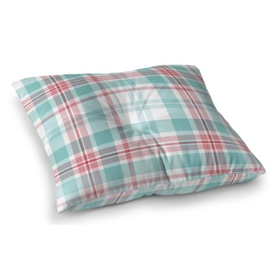 Belliere Plaid Indoor/Outdoor Floor Pillow Size: 23 H x 23 W x 8 D