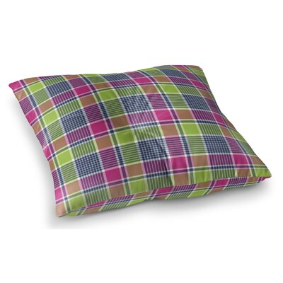 Zoelle Plaid Indoor/Outdoor Floor Pillow Size: 26 H x 26 W x 8 D