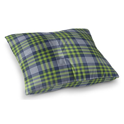 Zoelle Plaid Indoor/Outdoor Floor Pillow Size: 23 H x 23 W x 8 D