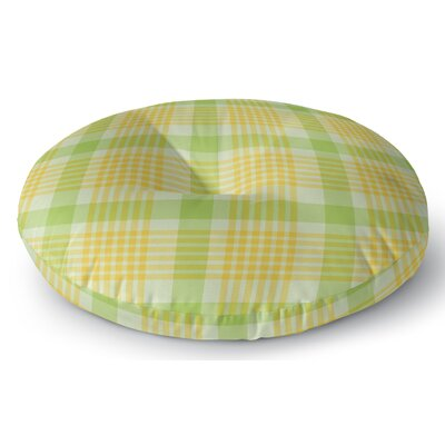 Turene Plaid Indoor/Outdoor Floor Pillow Size: 26 H x 26 W x 8 D