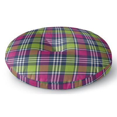 Zoelle Plaid Indoor/Outdoor Floor Pillow Size: 23