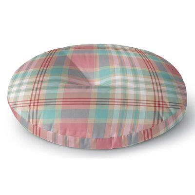 Belliere Plaid Indoor/Outdoor Floor Pillow Size: 26 H x 26 W x 8 D