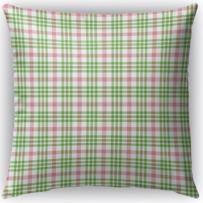 Pascual Plaid Indoor/Outdoor Throw Pillow Size: 16 H x 16 W x 4 D